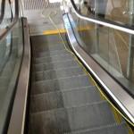 One side cleaned Escalator